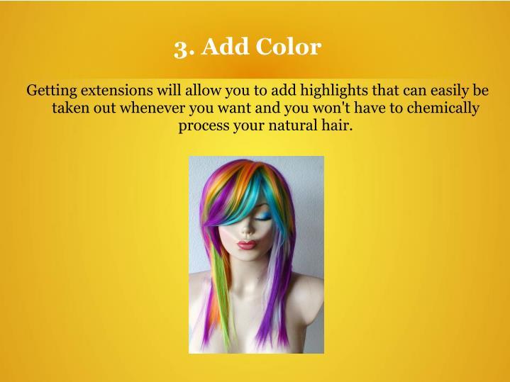 3. Add Color