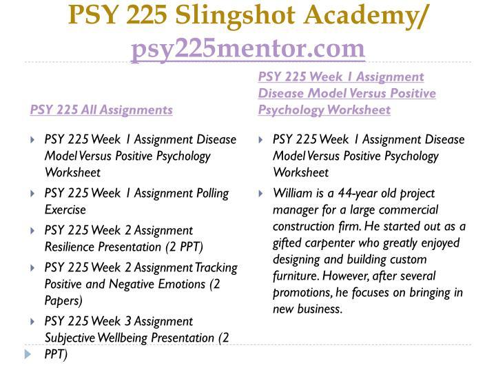 Psy 225 slingshot academy psy225mentor com1