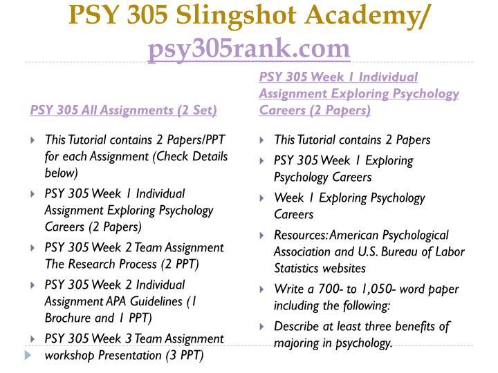 Psy 305 slingshot academy psy305rank com1