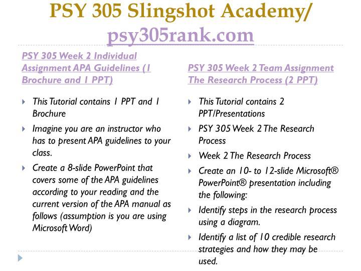 Psy 305 slingshot academy psy305rank com2