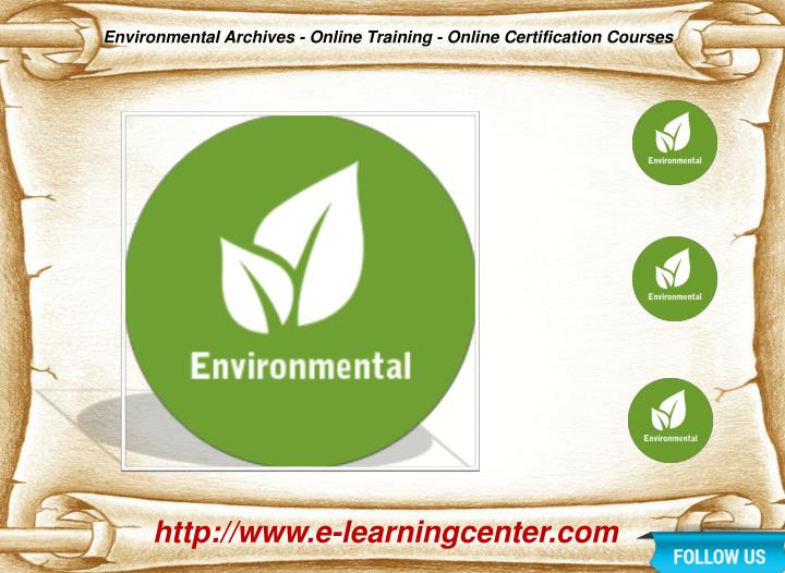 Environmental Archives - Online Training - Online Certification Courses
