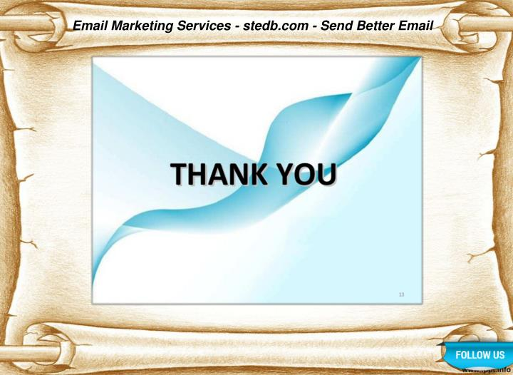 Email Marketing Services - stedb.com - Send Better Email