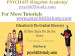 psych 635 slingshot academy psych635study com7