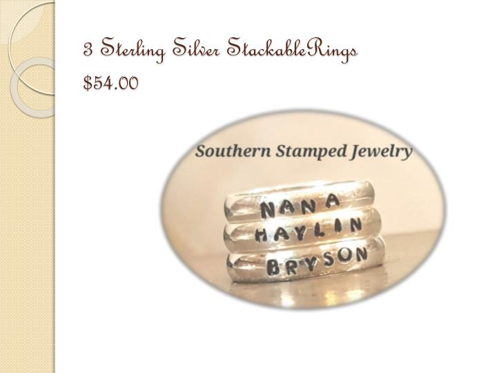 3 Sterling Silver