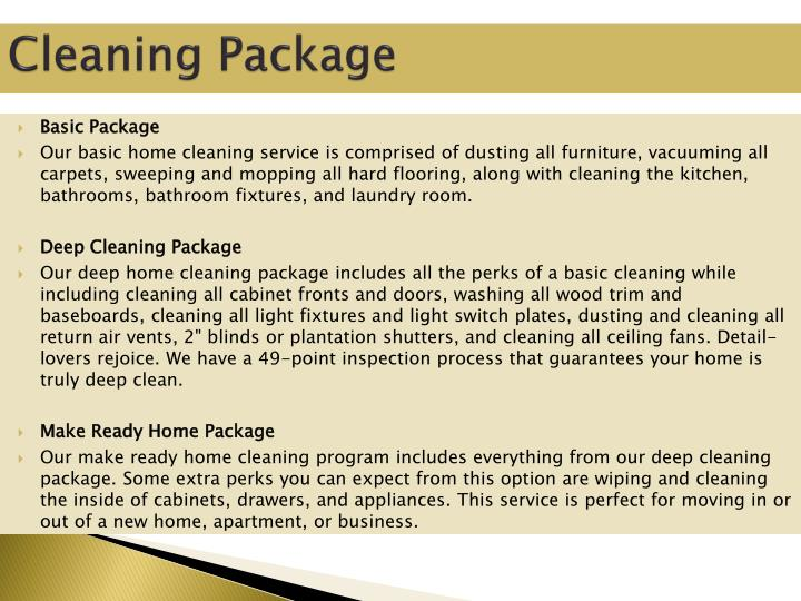 Cleaning Package
