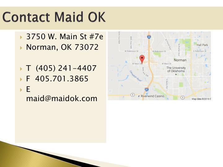 Contact Maid OK