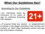 what our guidelines say
