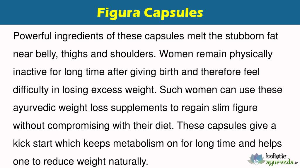 PPT - Ayurvedic Weight Loss Supplements To Reduce Belly Fat