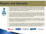 repairs and warranty