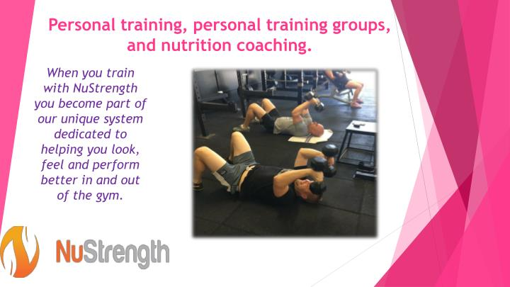 Personal training personal training groups and nutrition coaching1