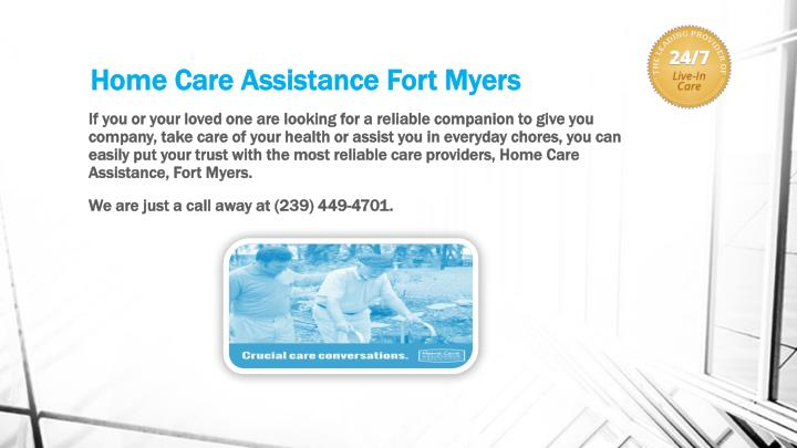 Home care assistance fort myers