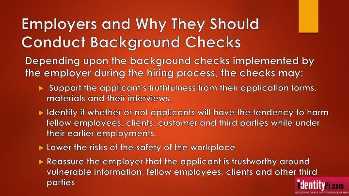 Employers and Why They Should Conduct Background Checks