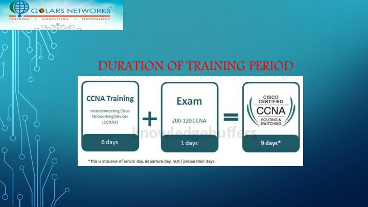 Duration of training period