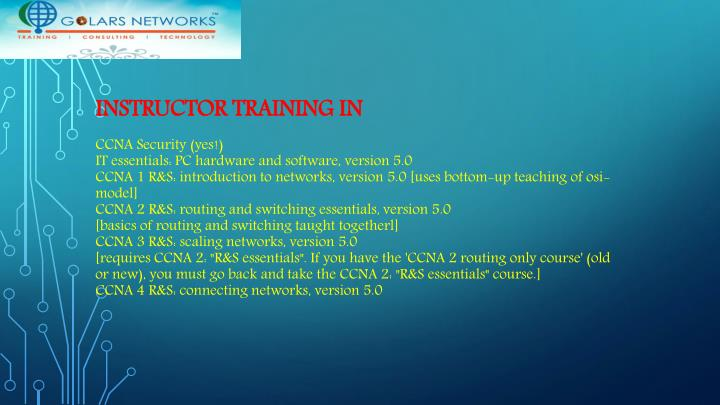 INSTRUCTOR TRAINING IN