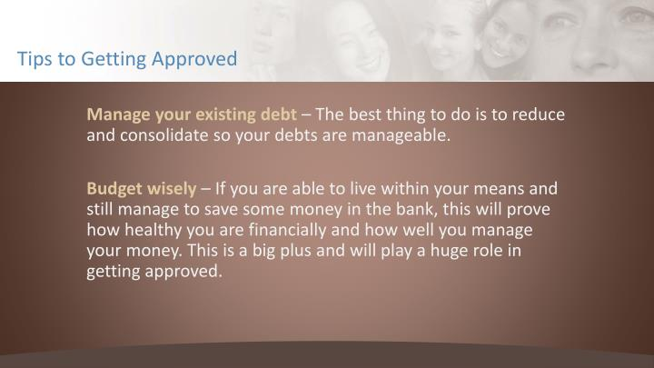 Tips to Getting Approved