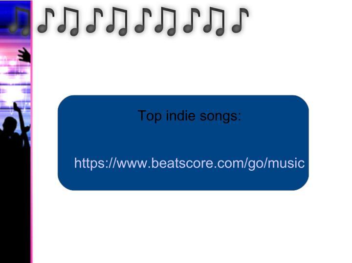 Top indie songs: