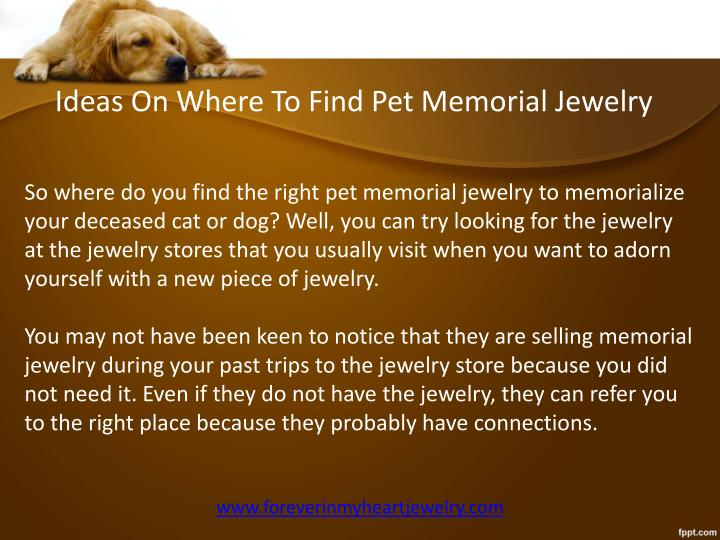 Ideas On Where To Find Pet Memorial Jewelry