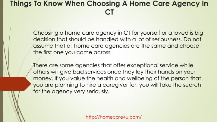Things to know when choosing a home care agency in ct1