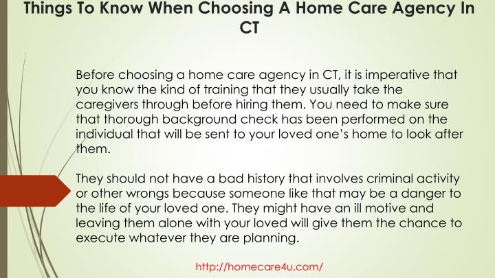 Things to know when choosing a home care agency in ct2