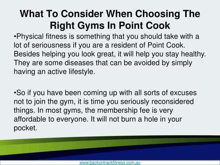 What to consider when choosing the right gyms in point cook1