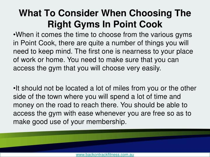 What to consider when choosing the right gyms in point cook2