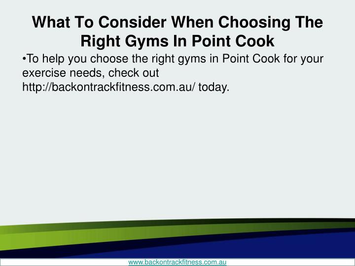 What To Consider When Choosing The Right Gyms In Point Cook