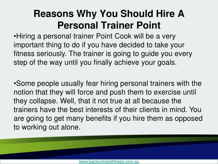 why get a personal trainer
