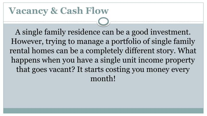 Vacancy & Cash Flow
