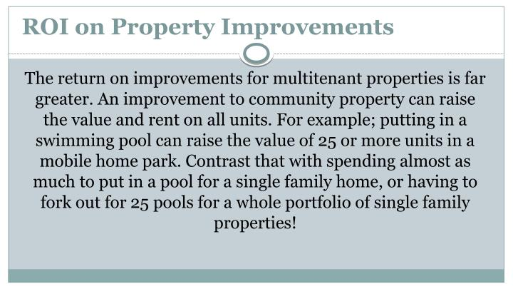 ROI on Property Improvements