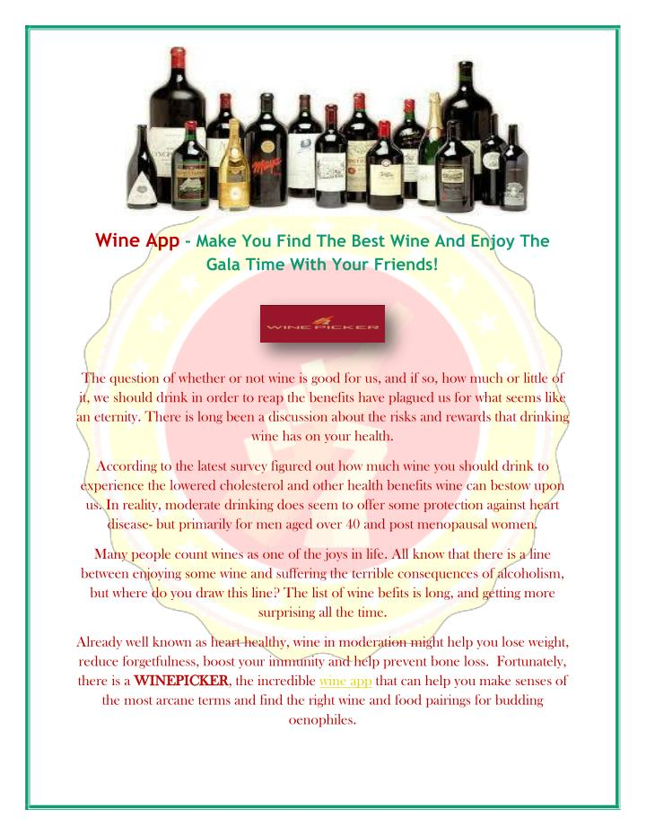 PPT - Wine App - Make You Find The Best Wine And Enjoy The