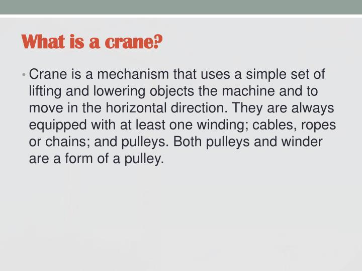 What is a crane