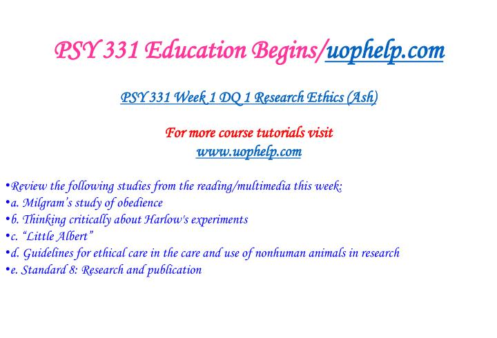 Psy 331 education begins uophelp com2