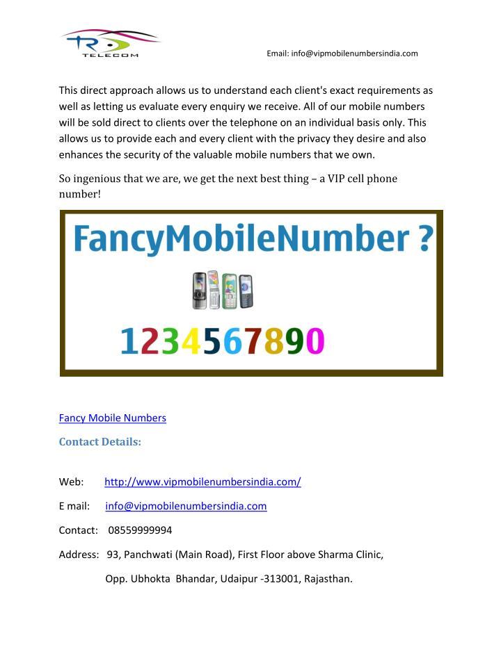 Email: info@vipmobilenumbersindia.com