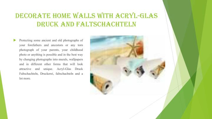 Decorate Home Walls with Acryl-Glas