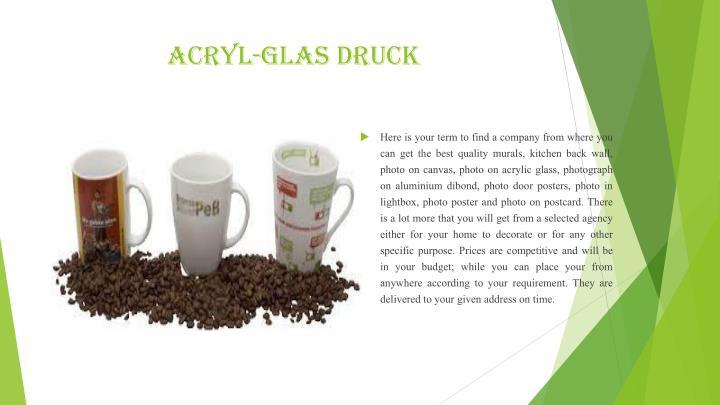 Acryl-Glas Druck