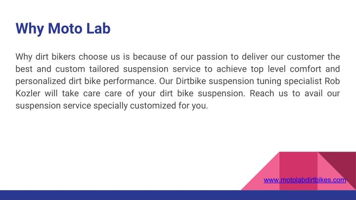 Why Moto Lab