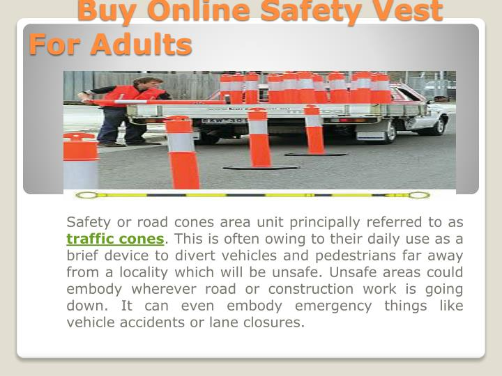 buy online safety vest for adults n.