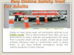 buy online safety vest for adults
