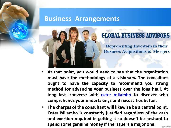Business  Arrangements