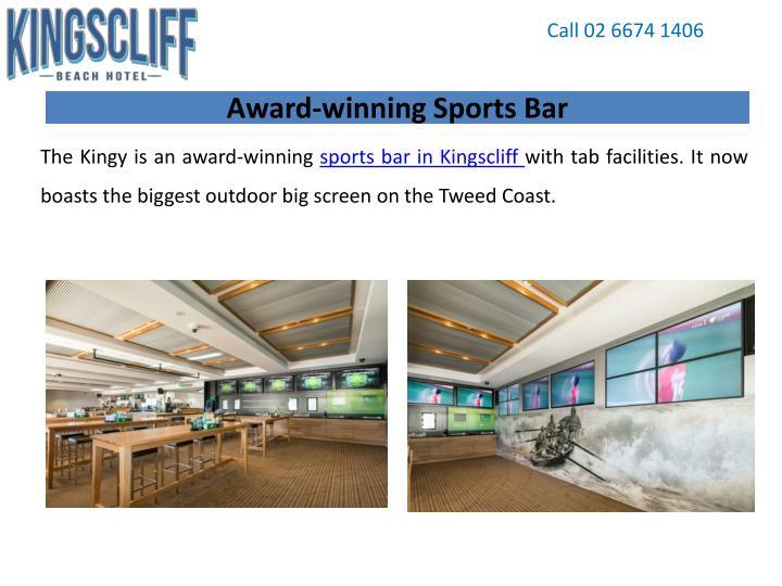 Award winning sports bar