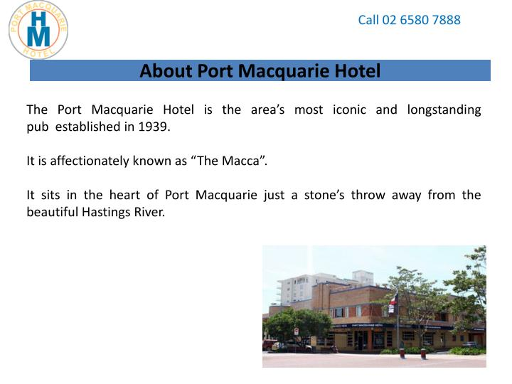 About port macquarie hotel