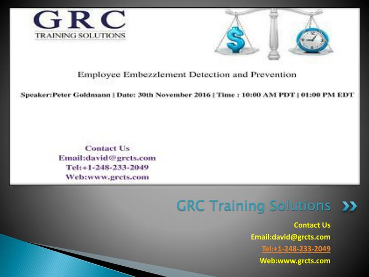 grc training solutions