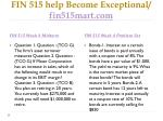 fin 515 help become exceptional fin515mart com14