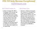 fin 515 help become exceptional fin515mart com16