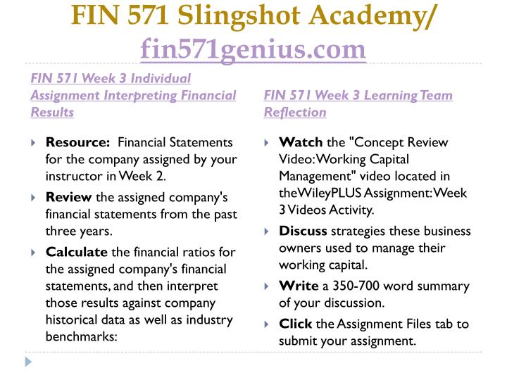 """fin 571 week 3 reflection discuss strategies these business owners used to manage their working capi Be the first to review """"fin 571 week 5 assignment"""" click here to cancel fin 571 full course $8000 add to cart fin 571 week 6 wiley plus practice quiz $300."""