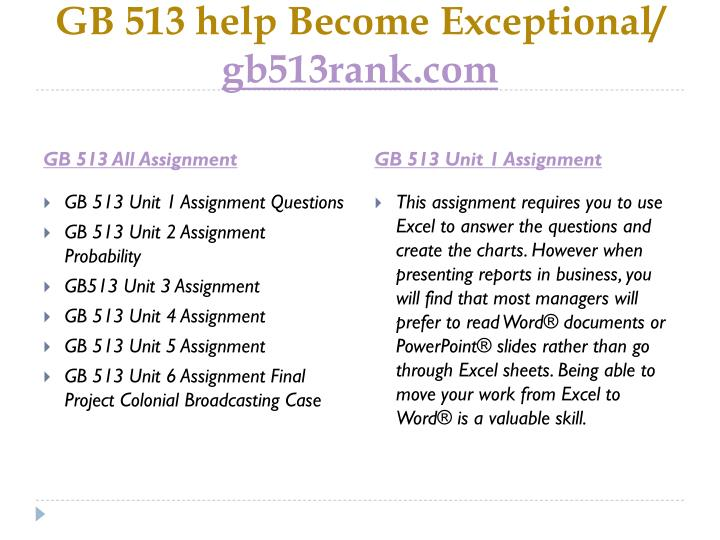 Gb 513 help become exceptional gb513rank com1