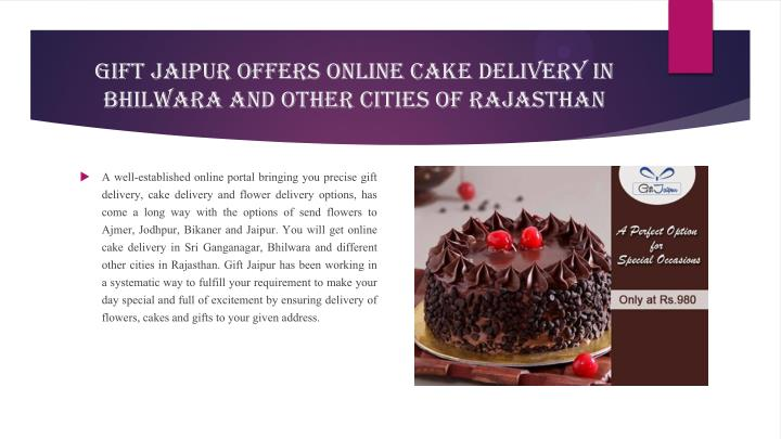Gift Jaipur Offers Online Cake Delivery in