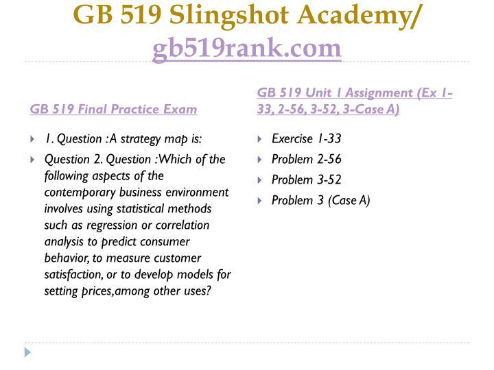 Gb 519 slingshot academy gb519rank com1