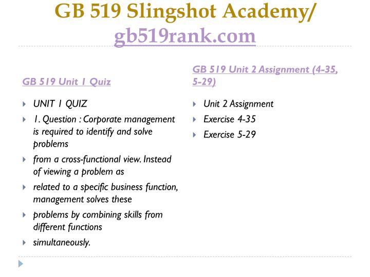 Gb 519 slingshot academy gb519rank com2