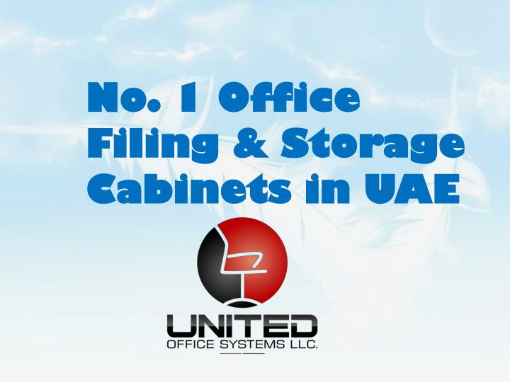 No. 1 Office Filing & Storage Cabinets in UAE